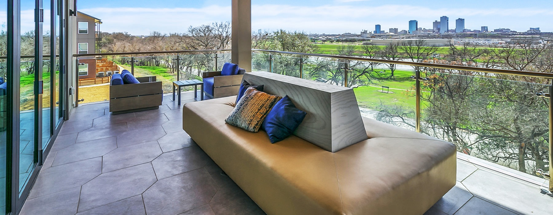 Resident deck with a view of Downtown Fort Worth